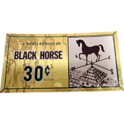 Black Horse Brewery Ale Advertising Sign