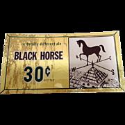Black Horse Brewery Ale Beer Advertising Sign