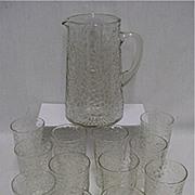 Pitcher Set Matching Pattern with 12 Individual Glasses