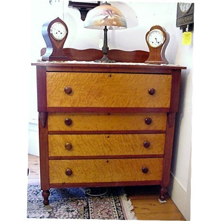Cherry  and Birds Eye Maple Chest of Drawers