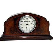 SOLD    Antique Swiss Inlaid Mantel Clock Runs and Keeps Time