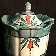Lusterware Mint Green Luster Covered Jar for Jelly, Jam, Candy  ***Selling at Cost