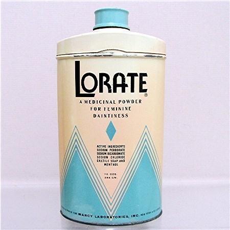 Lorate Talc  Advertising Talcum Tin