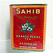 Advertising Tea Tin S. S. Pierce Tea One Pound
