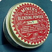 Theatrical Powder Advertising Tin by Henry Miner