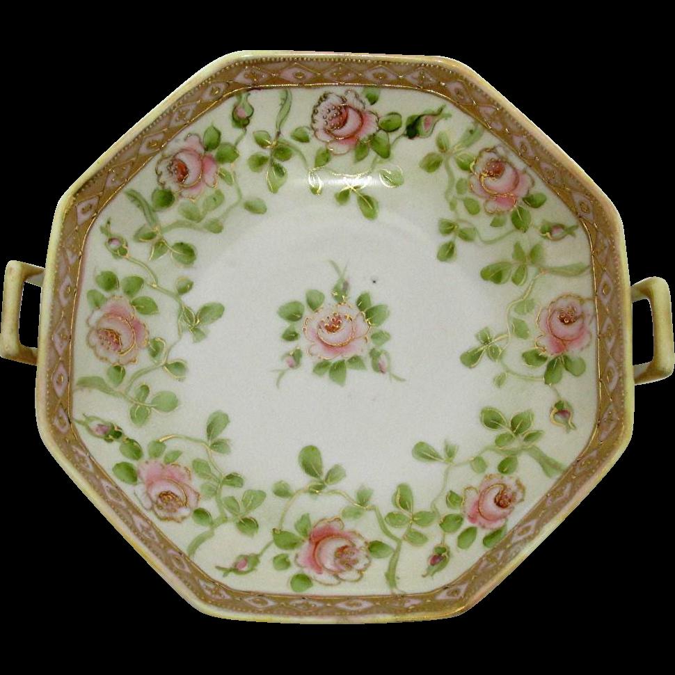 Nippon Serving Bowl Hand Painted Porcelain