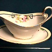 Nippon Sauce Dish with Matching Underplate Hand Painted