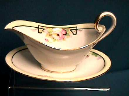 Nippon Sauce Dish with Matching Underplate Hand Painted   ***Selling at Cost
