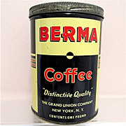 Berma Coffee Advertising Tin