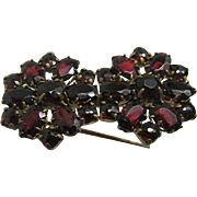 Pin or Brooch Matching Garnet Flowers