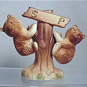 Salt and Pepper Shakers  Climbing Bears Sets $16 each or both for $29