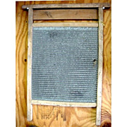 Washboard  Zinc and Wood