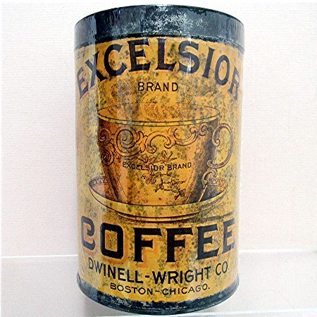 SOLD   Excelsior Coffee Advertising Tin