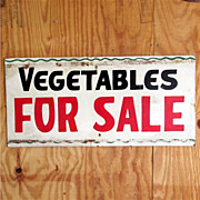 Vegetables For Sale Advertising Sign 50% OFF