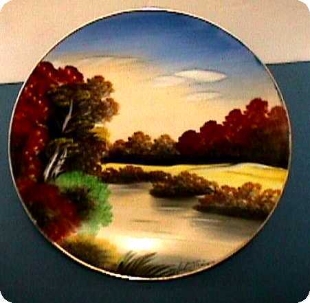 Porcelain Wall Plaque  $69  Hand Painted Artist Signed