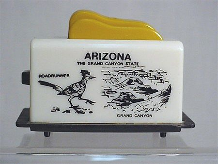 Salt and Pepper Set Toaster Shakers Souvenir of Arizona