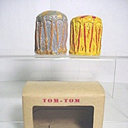 Salt and Pepper Set in Original Box Tom Tom Shakers