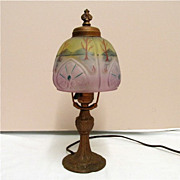 Table Lamp Antique with Obverse Shade