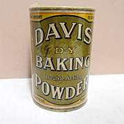 Davis D-Y Baking Powder Tin Original Contents