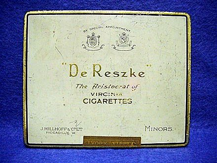 De Reszke Virginia Advertising Cigarette Pocket Tin