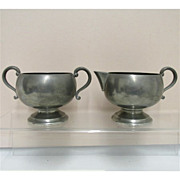 Cream and Sugar Set American