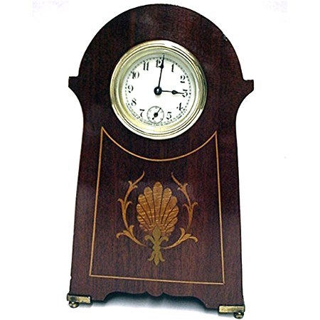 Antique Sessions Inlaid Desk Clock In Mint Condition