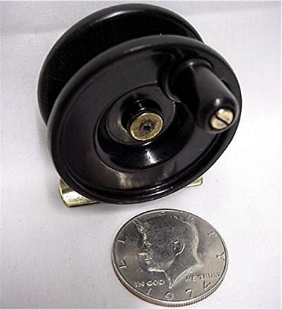 Fly fishing reel small 2 inch diameter mint from drury on for Used fly fishing gear for sale