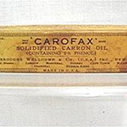 Carofax Carron Oil Old Drugstore Pharmacy Item
