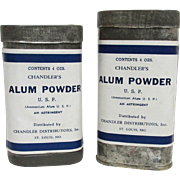 Chandlers Alum Powder Advertising Tins  $20 each  Two different size tins