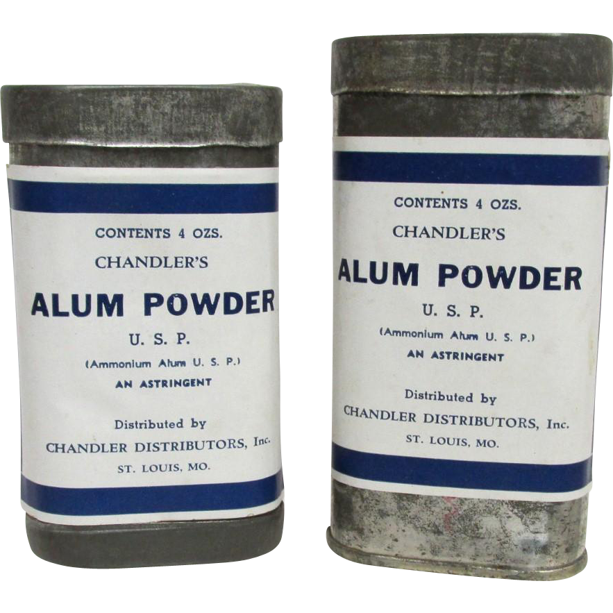 SOLD Chandlers Alum Powder Advertising Tins  $20 each  Two different size tins