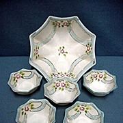 Nut Set  Japanese Porcelain Hand Painted