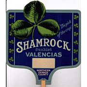 Fan Advertising Promotional for Shamrock Sunkist Valencias Oranges