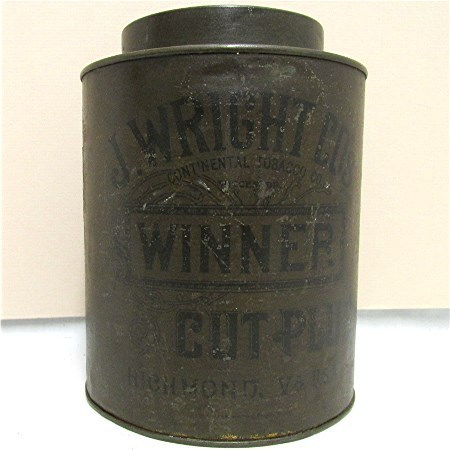 Advertising Tobacco Tin For J. Wright Richmond Va.