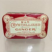 R & S Crystallized  Oriental Ginger Advertising Tin