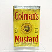 Colmans Mustard 1 Lb. Spice Advertising Tin