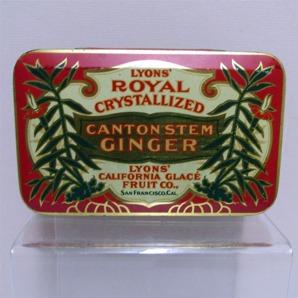 Spice Tin LYONS Crystallized Canton Stem Ginger Advertising Tin