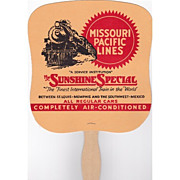 Railroad Advertising Fan Missouri Pacific Lines