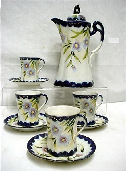 Cobalt Porcelain Chocolate Set