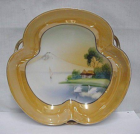 Luster Dish Hand Painted Lusterware