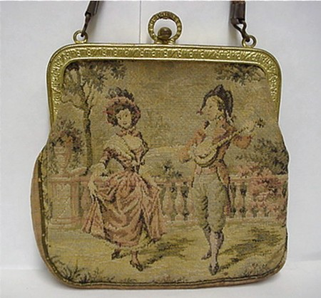 Woven Silk Tapestry Hand Bag or Purse