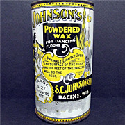 Antique Advertising Tin For S. C. Johnsons Powdered Dance Floor Wax