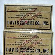 World War II Field Dressings Two in Mint Condition Unopened