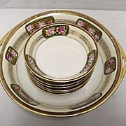 Nippon Porcelain Service for Six   Bowl and 6 Servings