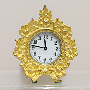 Waterbury Fire Gilt Gold Clock