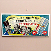 Paper Mate Pens Advertising Sign