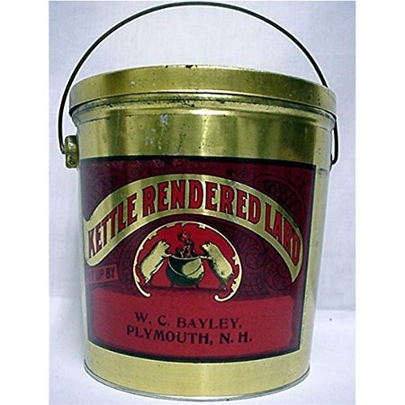 SOLD Advertising Tin for Kettle Rendered Lard Near Mint