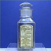 Sirop BeBe Antique Glass Apothecary Bottle or Jar