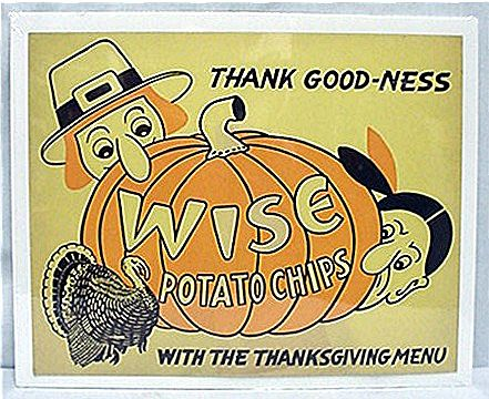 Wise Potato Chips Thanksgiving Advertising Sign