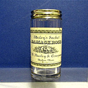 Silver Top Glass Pharmacy Bottle C. B. Bailey of Boston Mass