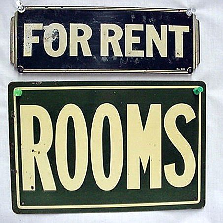 Tin Signs Advertising FOR RENT Rooms